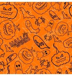 Halloween seamless background vector image