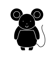 mouse cute icon black sign vector image