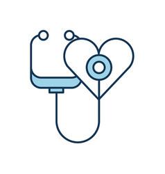 stethoscope shaped heart health symbol vector image