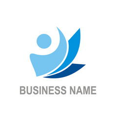 active people business logo vector image vector image