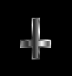 an inverted cross- the cross of saint peter vector image vector image