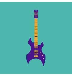 Heavy metal guitar vector image