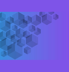 Polygon background hexagons half purple vector