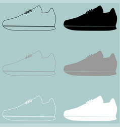 running shoes or jogging shoes vector image