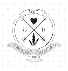 rustic romantic card invitation floral design vector image