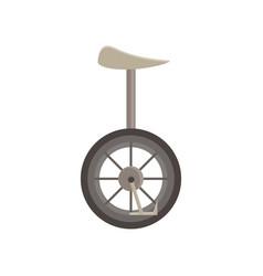 unicycle isolated bicycle wheel cycle one circus vector image vector image
