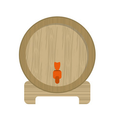 Wine barrel faucet wooden pictogram Royalty Free Vector