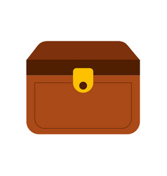 wooden trunk isolated icon vector image vector image