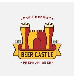Beer castle logo template vector