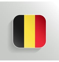 Button - Belgium Flag Icon vector image vector image