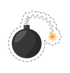 cartoon bomb april fools day vector image vector image