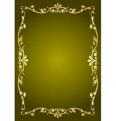 Luxury green background vector image vector image