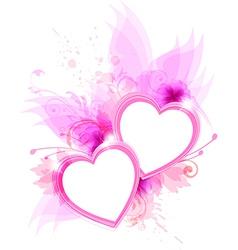 Pink hearts vector image vector image