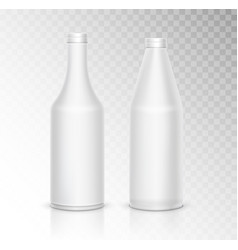 3d mock up white plastic bottle package on vector image