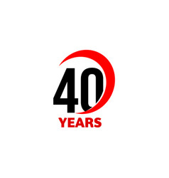 40th anniversary abstract logo forty happy vector