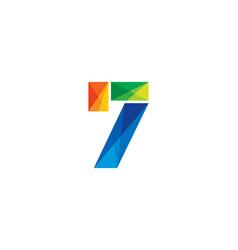 7 colorful letter logo icon design vector