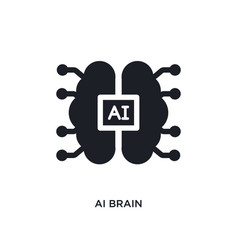 Ai brain isolated icon simple element from vector