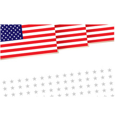 american flag decorative banner poster vector image