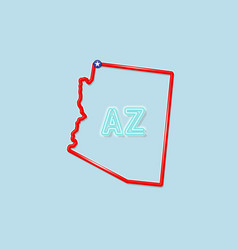 Arizona state bold outline map vector