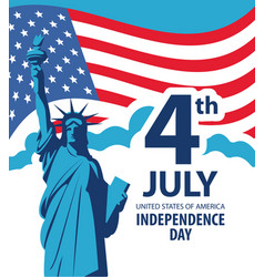 banner on theme us independence day vector image