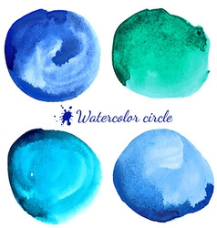 Beautiful watercolor circle elements vector image