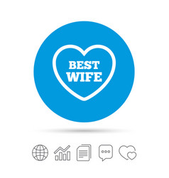 Best wife sign icon heart love symbol vector