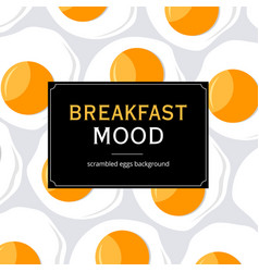 Breakfast mood background vector