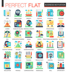 business motivation complex flat icon vector image