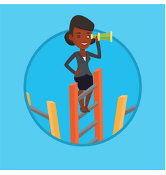 businesswoman looking for business opportunities vector image