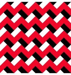 Chevron red black pattern vector