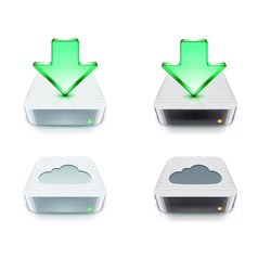 cloud storage and download concept vector image