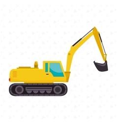 Construction machinery design vector