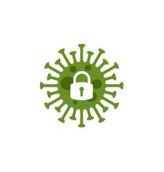 coronavirus lockdown symbol pandemic vector image