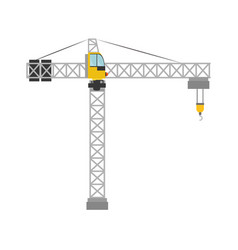 crane construction isolated icon vector image