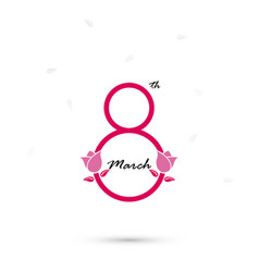 creative 8 march logo design with international vector image