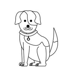 Cute dog cartoon icon image vector