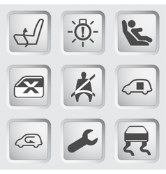 Dashboard icons set 5 vector image