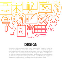 design line concept vector image