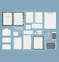 Document template blank set vector