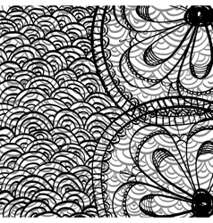 Doodle draw background vector image