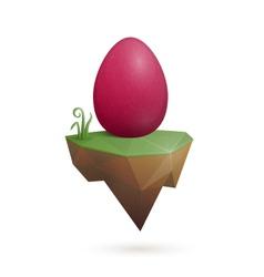 Easter egg holder vector