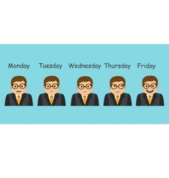 Emotions and days of the week vector