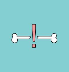 Flat icon design collection broken bone vector