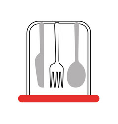 fork cutlery with knife vector image
