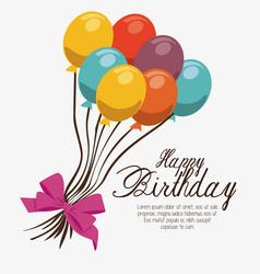Happy birthday balloons air party vector