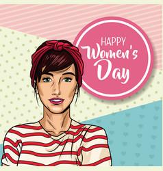 happy mothers day pop art vector image