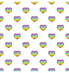 Heart in colours of LGBT pattern cartoon style vector