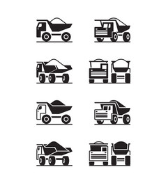 heavy duty truck in different perspective vector image