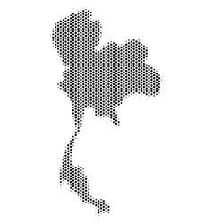 Hex-tile thailand map vector