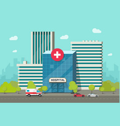 hospital building flat vector image